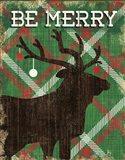 Simple Living Holiday Elk Art Print