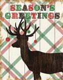 Simple Living Holiday Deer Art Print