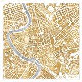 Gilded Rome Map Art Print