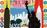 New York City Life I Art Print