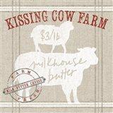 Farm Linen Cow Art Print