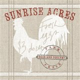 Farm Linen Rooster Art Print