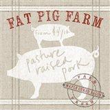 Farm Linen Pig Art Print