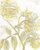 Belle Fleur Yellow I Crop Art Print