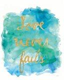 Sea Glass Saying Love Art Print