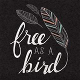 Free as a Bird Black Art Print