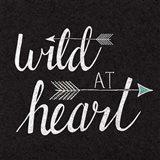 Wild at Heart Black Art Print