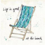 Beach Divas VII Aqua Art Print