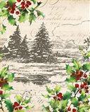 Vintage Holiday II Art Print