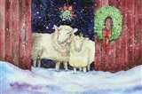 Christmas Sheep Art Print