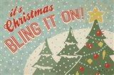 Retro Christmas IV Art Print