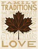 Family Tree Leaf I Art Print