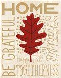 Family Tree Leaf II Art Print