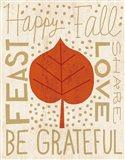 Family Tree Leaf III Art Print
