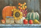 Harvest Bench Art Print