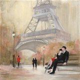 Romantic Paris I Red Jacket Art Print