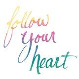 Colorburst II Heart White Sq Art Print