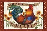 Country Heart I Dots Art Print