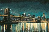 Bright City Lights Teal Art Print