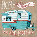 Adventure Love Camper Taupe Art Print