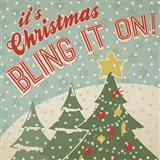 Retro Christmas IX Art Print