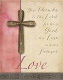 Words for Worship Love Art Print
