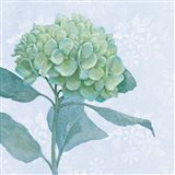 Blue Hydrangea I Crop Art Print