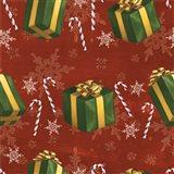 Santas List Pattern X Art Print