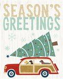 Holiday on Wheels II v2 Art Print