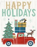 Holiday on Wheels III v2 Art Print