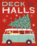 Holiday on Wheels Red IV Art Print