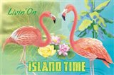 Island Time Flamingo I Bright Art Print