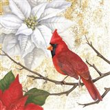 Winter Birds Cardinal Art Print