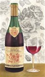 Wine and Roses I Art Print