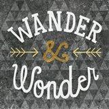 Mod Triangles Wander and Wonder Gold Art Print