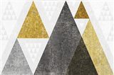 Mod Triangles I Gold Art Print