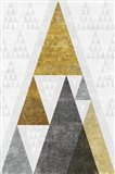 Mod Triangles III Gold Art Print