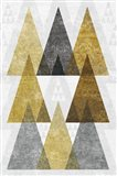 Mod Triangles IV Gold Art Print