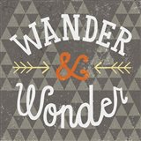 Mod Triangles Wander and Wonder Retro Art Print