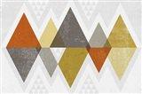 Mod Triangles II Retro Art Print