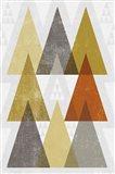 Mod Triangles IV Retro Art Print