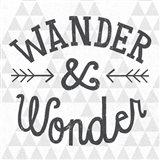 Mod Triangles Wander and Wonder Art Print