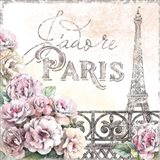 Paris Roses III Art Print