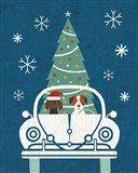Holiday on Wheels XIII Navy Art Print
