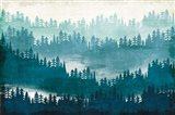 Mountainscape Blue Art Print