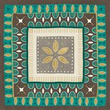 Cool Feathers Tiles IV Art Print
