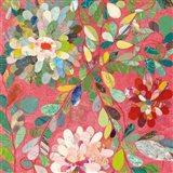 Red and Pink Dahlia III Art Print
