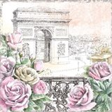 Paris Roses V Art Print