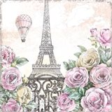 Paris Roses VI Art Print