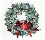 Holiday Wreath I Art Print